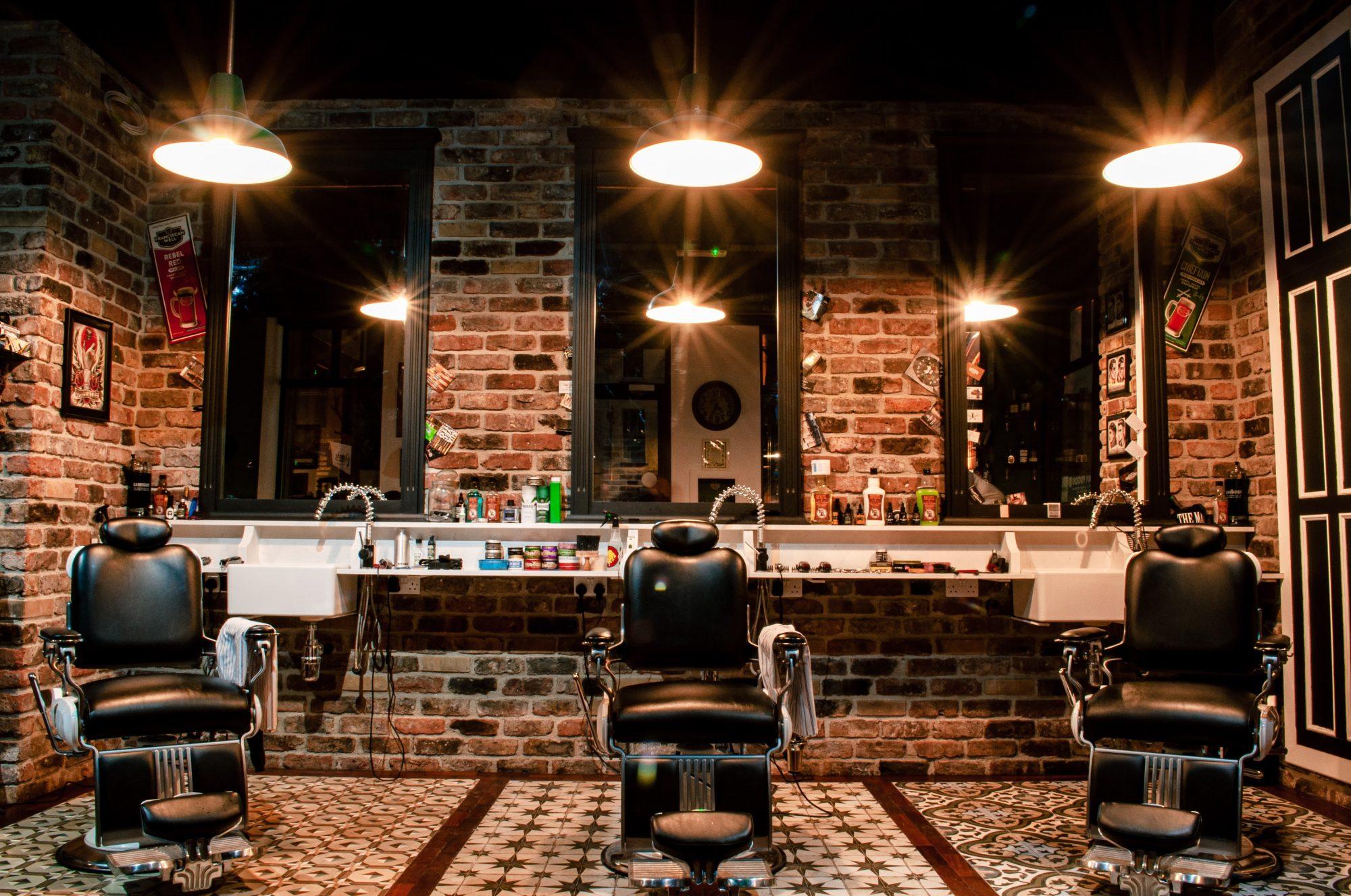 Interior Barbershop following Construction in Toronto